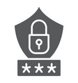password protection glyph icon privacy and access vector image vector image
