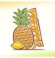 pineapple still life vector image vector image