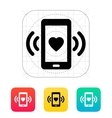 Romantic phone call icon vector image vector image