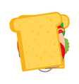 sandwich flat style vector image vector image