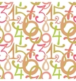 Seamless pattern with hand drawn painted numbers vector image