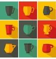 Set cup vector image vector image