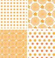 Set orange abstract seamless pattern