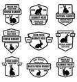set rabbit meat emblems design element for vector image vector image