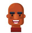 smiling bald man flat icon ava vector image vector image