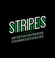 striped style font vector image