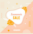 summer sale memphis banner concept advertising vector image vector image