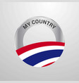 thailand my country flag badge vector image