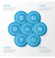 trade outline icons set collection of id card vector image vector image