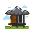 traditional oriental building vector image vector image