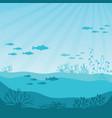 undersea coral reef panorama vector image