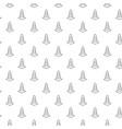 unique digital road cones seamless pattern vector image