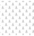 unique digital road cones seamless pattern with vector image vector image