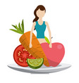 vegetable healthy diet vector image