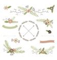 Wedding floral set vector image