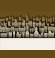 white black city paper nice background for urban vector image vector image