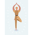 yoga pose womans vector image vector image