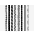 Bike tire tracks vector image