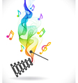 Dark gray xylophone icon with color abstract wave vector image