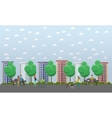Walk in the park concept flat vector image
