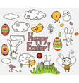 easter doodle vector image