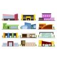 Set of shops buildings vector image