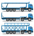 Trailer Icons Set 3 vector image