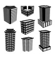 3D Office Buildings Icons vector image