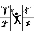 A black set of sport icons vector image vector image