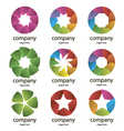 abstract multicolored logo of the petals vector image vector image