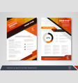 advertise flyer vector image