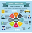 Airport infographic elements flat style vector image