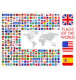 all official national flags world square vector image