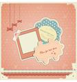 baby scrapbook vector image vector image