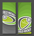 banners for field hockey vector image vector image