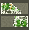 banners for st patricks day vector image