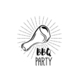 BBQ Party Badge Chicken grill label isolated on vector image vector image