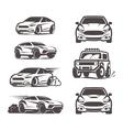car icons set sedan suv 4x4 sport vector image