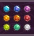 cartoon colorful fantasy planets set vector image vector image