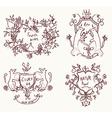 Coats of arms set - retro design in sketch vector image vector image