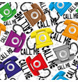 colored retro telephones vector image vector image