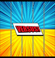 comic versus colorful concept vector image vector image