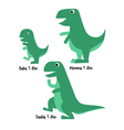 Cute Tyrannosaurus Family vector image vector image
