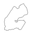 djibouti map of black contour curves vector image vector image