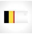 Envelope with Belgian flag card vector image vector image
