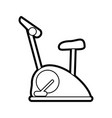 exercise equipment icon image vector image vector image