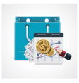 expensive shopping icon vector image