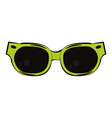 fashion cool and sunglasses vector image vector image