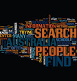 find people in australia text background word vector image vector image