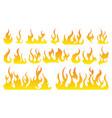 fire icon set design element vector image vector image